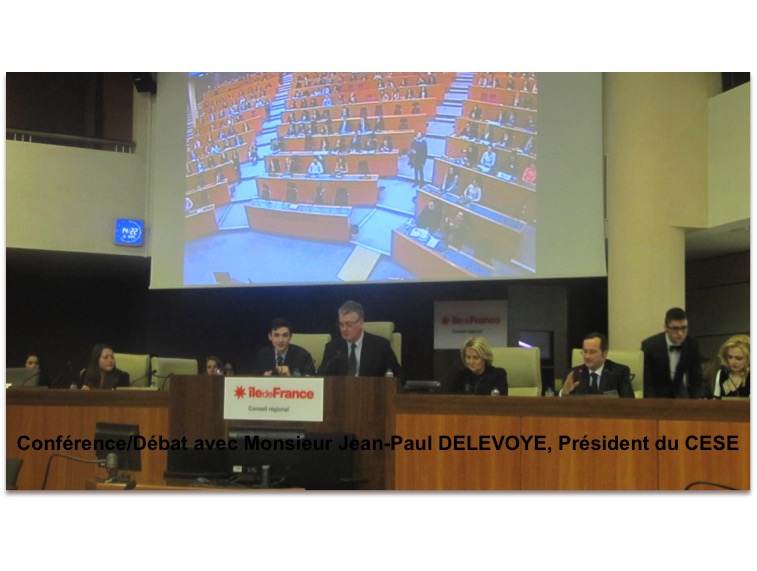 Conference-debate with Mr Delevoye, President of CESE