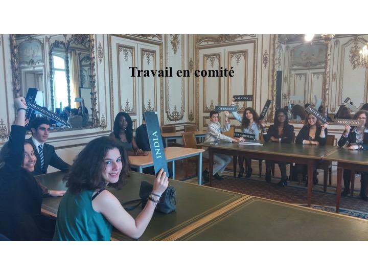 Travail en comité - Parlement des futurs citoyens 2015 - PARIS