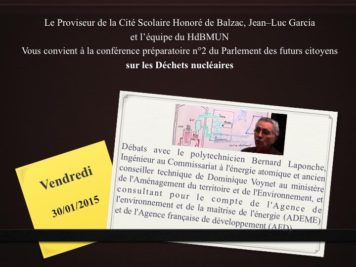 Confe rences parlement balzac 2015 de chets nucle aires 1